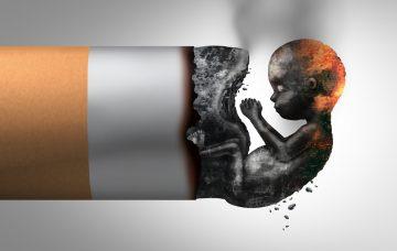 Tabak is de schadelijke factor in negatieve geboorte-uitkomsten. Foto: shutterstock/Lightspring]