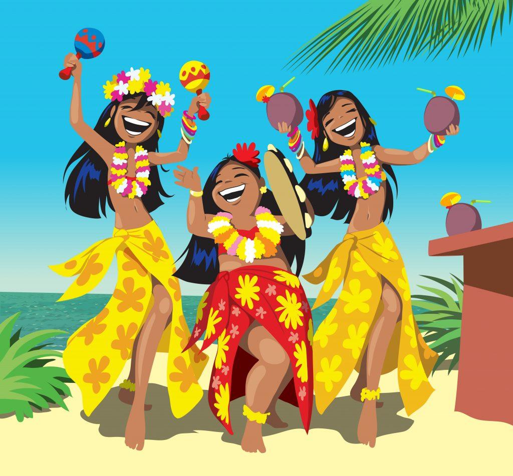 Поздравление в стиле гавайской вечеринки