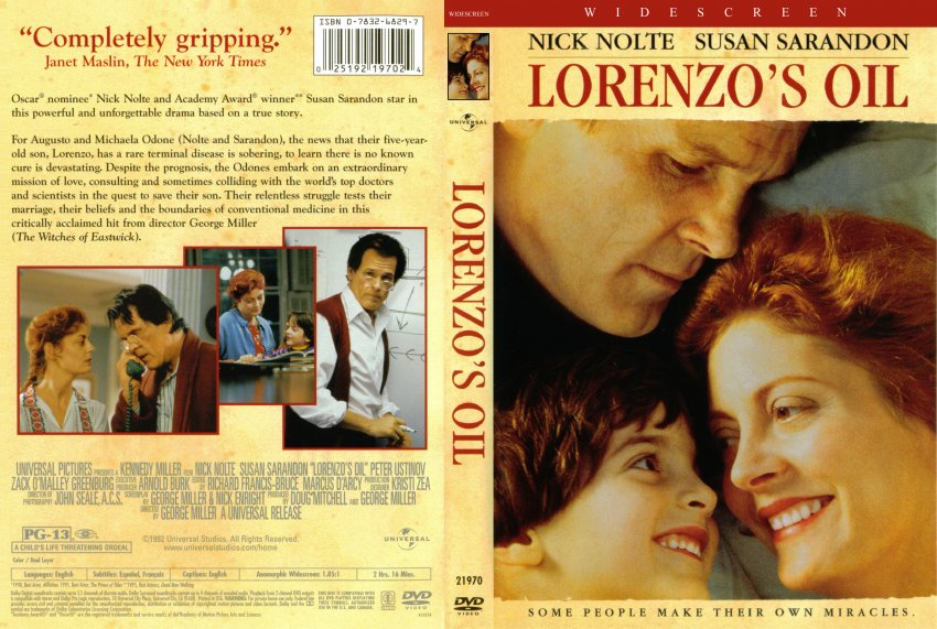 filmhoes Lorenzo's oil